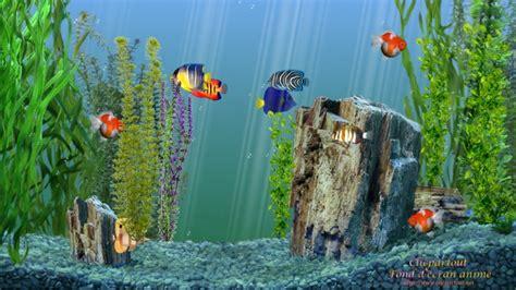fond d ecran anime aquarium gratuit terre qui tourne clicpartout fond d 233 cran anim 233