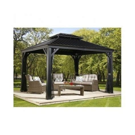 10x12 Gazebo by Sojag Messina 10 X 12 Galvanized Steel Roof Sun Shelter