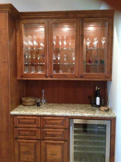 wet bar base  upper cabinet  custom glass doors