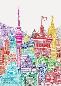 illustrator cheism new zealand towers prints city