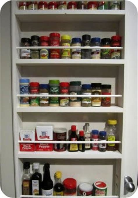 Hanging Spice Rack On Door by Craftionary