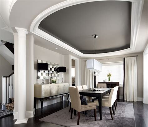 ceiling color for gray walls creating the illusion of space with ceiling color
