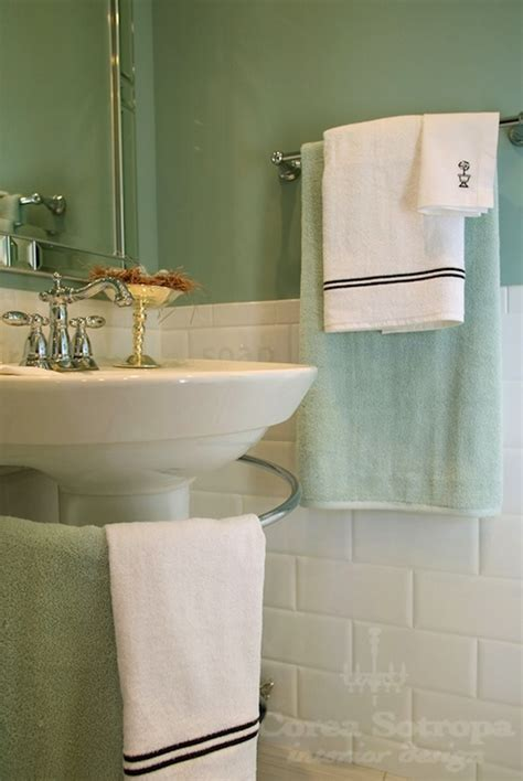 Spa Green Bathroom by Seafoam Green Bathroom Cottage Bathroom Martha Stewart