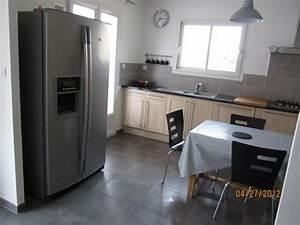 cuisine frigo americain location villa lieuran les beziers With frigo americain dans cuisine equipee