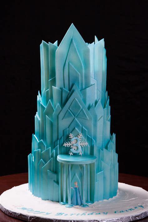 elsas ice castle  birthday cake cakecentralcom
