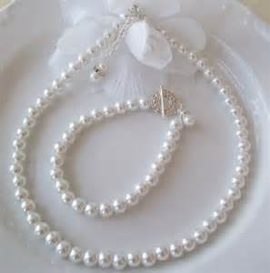 pearl wedding ring sets bridal set pearl bridal wedding jewelry set pearl necklace and bracele uniquebeadables