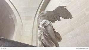 Close Up The Winged Victory Of Samothrace Stock video ...
