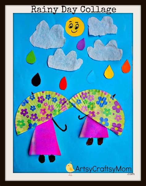 20 simple paper collage ideas for artsy craftsy 629 | Rainy day paper Collage