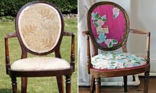 Before and After Reupholster Dining Chairs