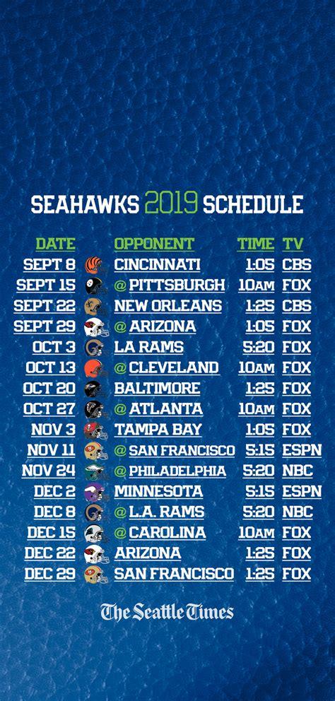 seahawks  regular season schedule  set seattle