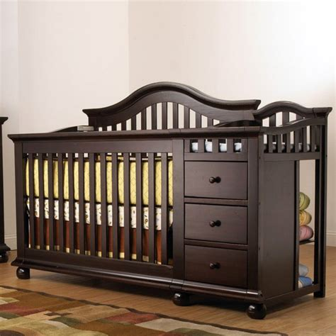 baby crib with changer sorelle cape cod crib n changer with toddler rail cribs