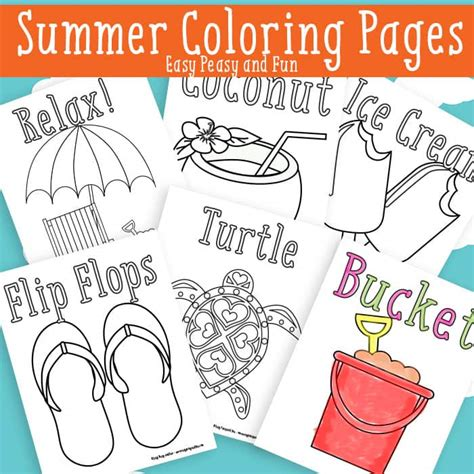 summer coloring pages free printable easy peasy and