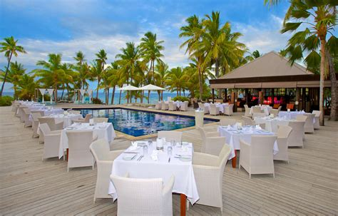 Poolside Dinner by Vomo Island Resort Fiji Travel Pacific Travel Specialist