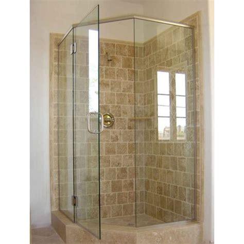 gold  plain bathroom shower cubicle toughened glass