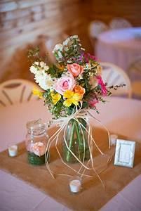 Mason, Jar, Wedding, Centerpieces