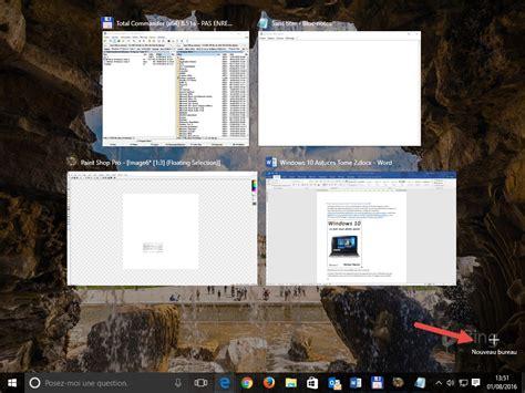 windows  raccourcis clavier pour les bureaux virtuels