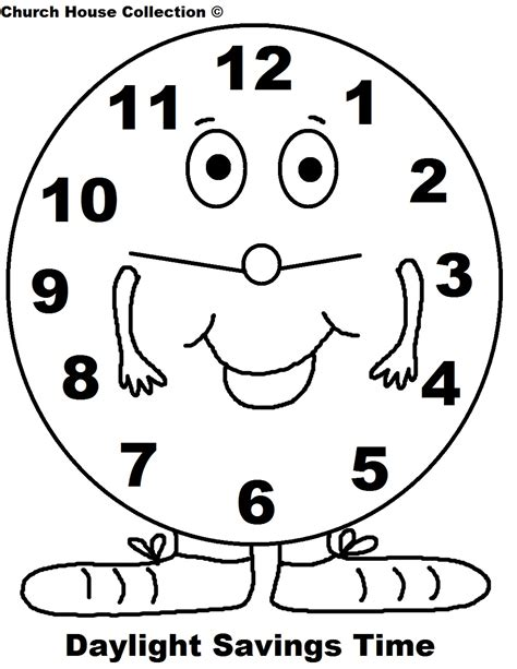 Coloring Time by Daylight Saving Time Coloring Pages
