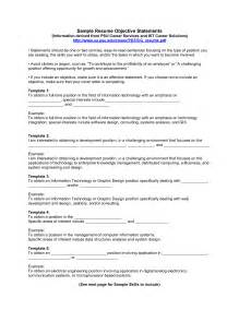 resume for biotechnology lecturer resume objective statement exles for teachers
