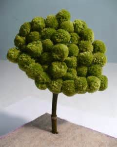 make a miniature pom pom tree dollar store crafts