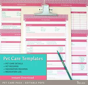 pet care records templates 4 editable pdf files for a4 by With pet health record template