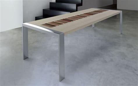 struttura tavolo tavolo rettangolare struttura in acciaio satinato piano