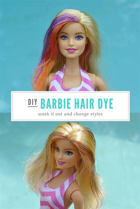 Diy Washout Barbie Hair Dye  Be A Fun Mum
