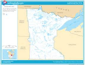 Minnesota Lakes and Rivers Map