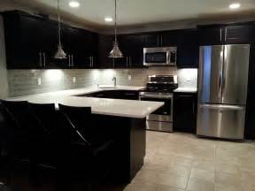 black glass tiles for kitchen backsplashes smoke glass subway tile modern kitchen backsplash subway