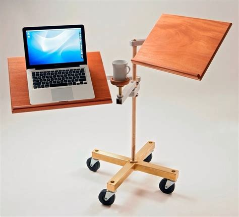 sit stand laptop desk a cool sit down or stand up laptop desk trusper