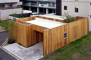 Modern minimalist house with garden in Nishimikuni, Japan