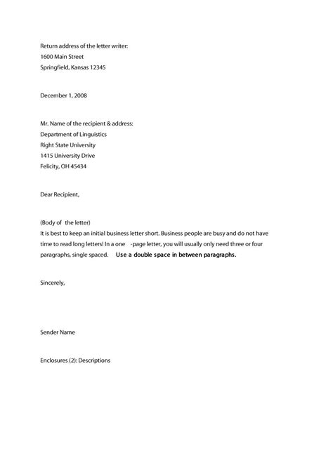 35 Formal / Business Letter Format Templates & Examples