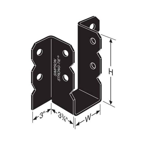 simpson ou410 4x10 ornamental joist hanger black powder