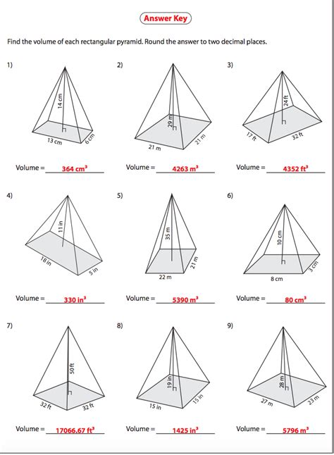 volume of rectangular pyramid answers nms self paced math