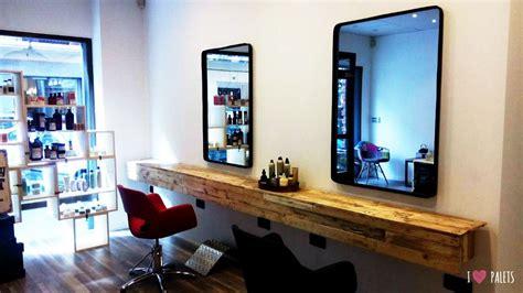 muebles de palets  una peluqueria iluminacion