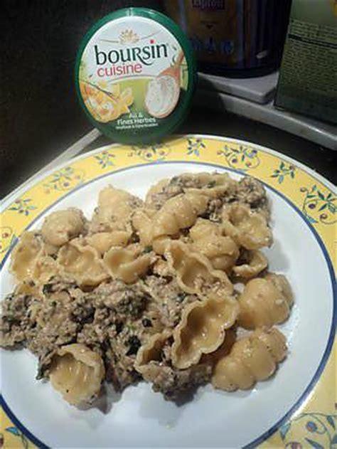 recette avec boursin cuisine recette de pate au boursin ail et herbe avec epinard