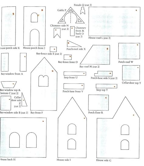 Gingerbread House Template Small Gingerbread House Template Printable
