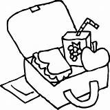 Coloring Lunchbox Clip Lunch Clipart Sweetclipart sketch template