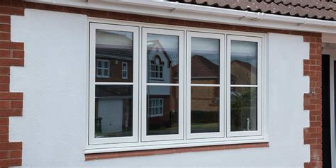 white flush casement windows  pennine home improvements