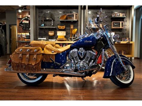 2014 Indian Chief Vintage Springfield Blue For Sale On