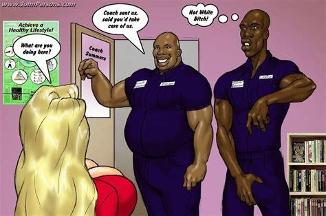 mega busty blonde captain of the cheerleader squat enjoy giant black cocks mega boobs catoons