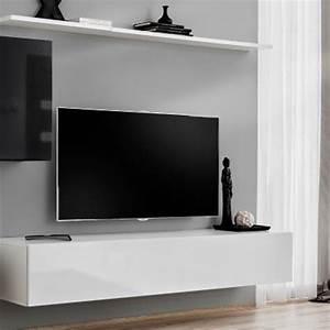 Meuble Tv 250 Cm : meuble tv mural design switch v 250cm noir blanc ~ Teatrodelosmanantiales.com Idées de Décoration