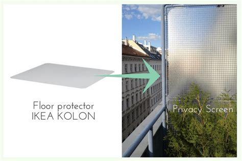 Floor protector for balcony privacy   IKEA Hackers   IKEA