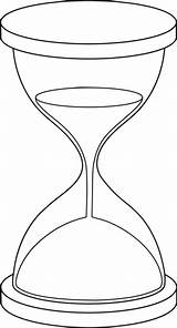 Hourglass Drawing Sand Clip Coloring Pages Clock Line Tattoo Lineart Printable Drawings Body Broken Graphic Sweetclipart Hour Outline Template Vector sketch template