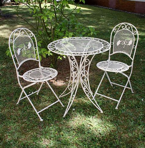 Vintage Garden Furniture Set  Table & 2 Chairs Wrought