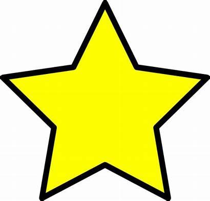Star Yellow Clip Clipart Vector Clker Cliparts