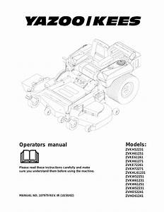 Yazoo  Kees Zvkh52231 En User Manual