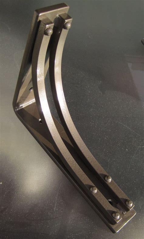 Metal Corbels For Granite by Wrought Iron Steel Corner Bracket Corbel Bookshelf