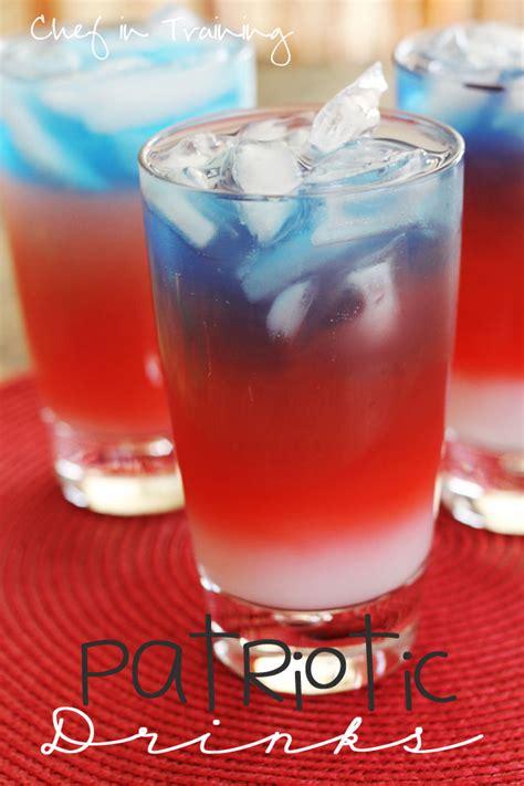 patriotic drink recipes layered patriotic drinks chef in training