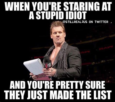 Chris Jericho Memes - the best thing of wwe 2016 chris jericho and the list meme wwe pinterest chris jericho