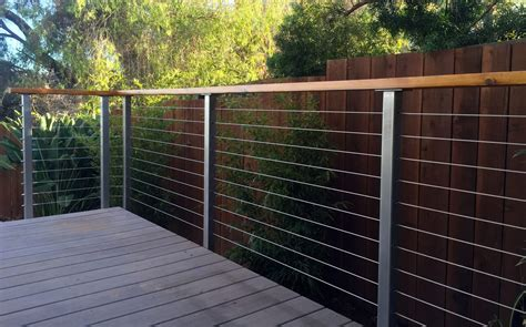 Steel Deck Handrails by Stainless Steel Deck Railing Posts San Diego Cable Railings